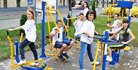 БелАЗ выпусціў трэнажоры для заняткаў спортам на адкрытых пляцоўках