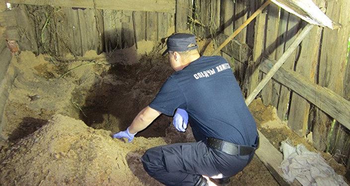 Место преступления в Чаусах