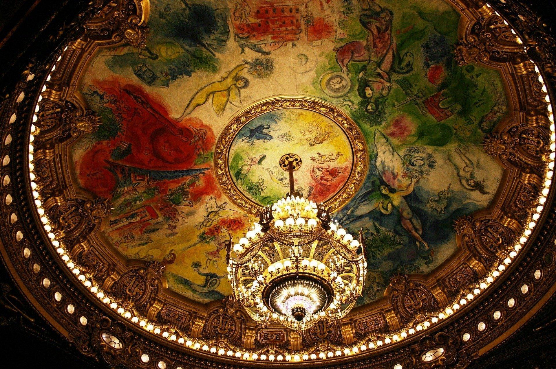 Роспись плафона Оперы Гаранье в Париже Шагал сделал в возрасте 77 лет