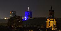 Вид на башню Гедимина ночью, архивное фото