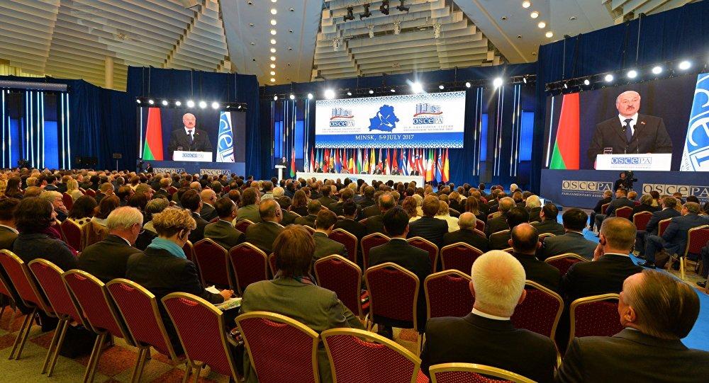 Выступление президента Беларуси Александра Лукашенко на сессии ПА ОБСЕ в Минске