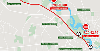 Схема ограничения движения в Минске 7–8 июля 2017 – инфографика sputnik.by