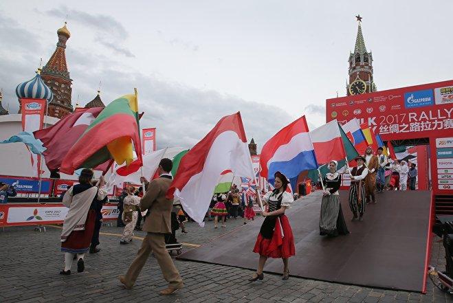 Старт ралли Шелковый путь - 2017 в Москве