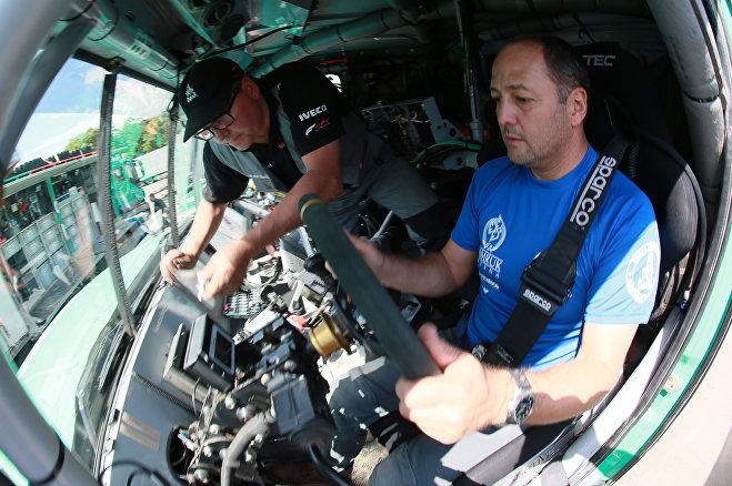 Пилот и менеджер экипажа Astana Motorsports Артур Ардавичус