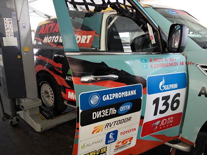 Автомобиль команды Aktau Motorsport