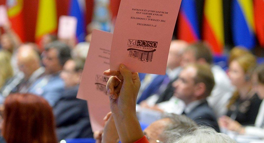 ВОБСЕРФ бойкотировала голосование порезолюциям оПольше иУкраине