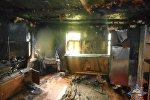 Последствия пожара в Мстиславском районе