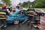 Водитель без прав врезался в автомобиль в Минске