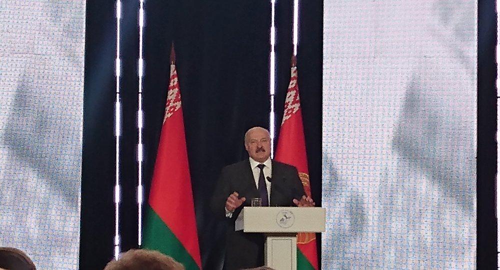 Аляксандр Лукашэнка на Кангрэсе рускай прэсы