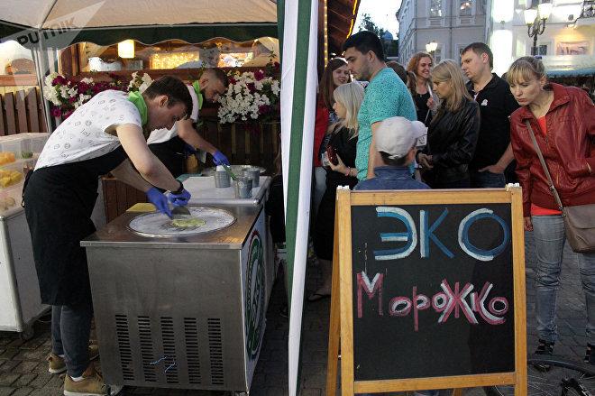 Эко-мороженое не первый год на Славянском базаре