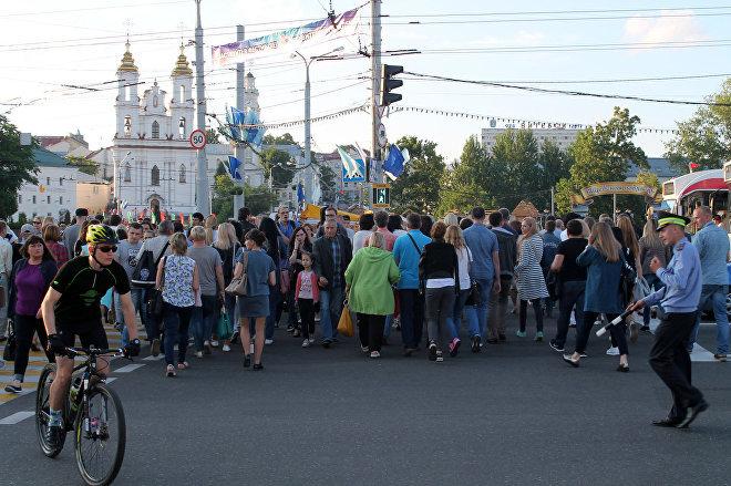 Ежегодно во время Славянского базара в центре города не протолкнуться