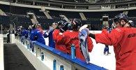 Хоккеисты минского Динамо на тренировке
