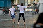 Летний дождь в Минске, архивное фото