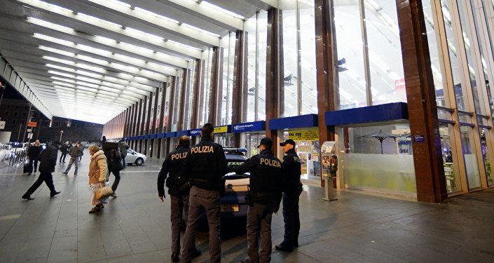 Римская станция метро Термини, где произошел инцидент