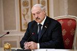 Президент Беларуси Александр Лукашенко на заседании совета министров иностранных дел ОДКБ