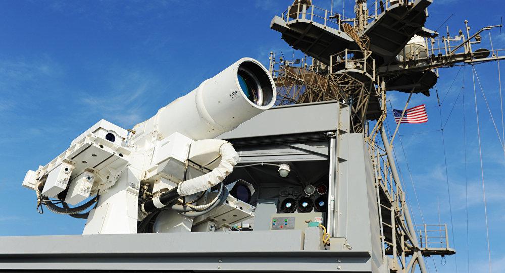 Прототип лазерной установки, архивное фото