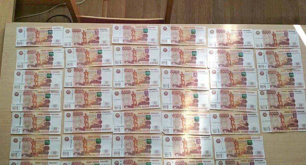 Конфискованные у жителей Лельчиц российские рубли