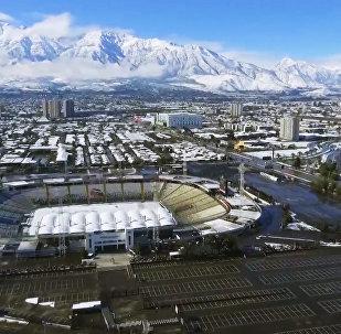 Снегопад в чилийском Сантьяго