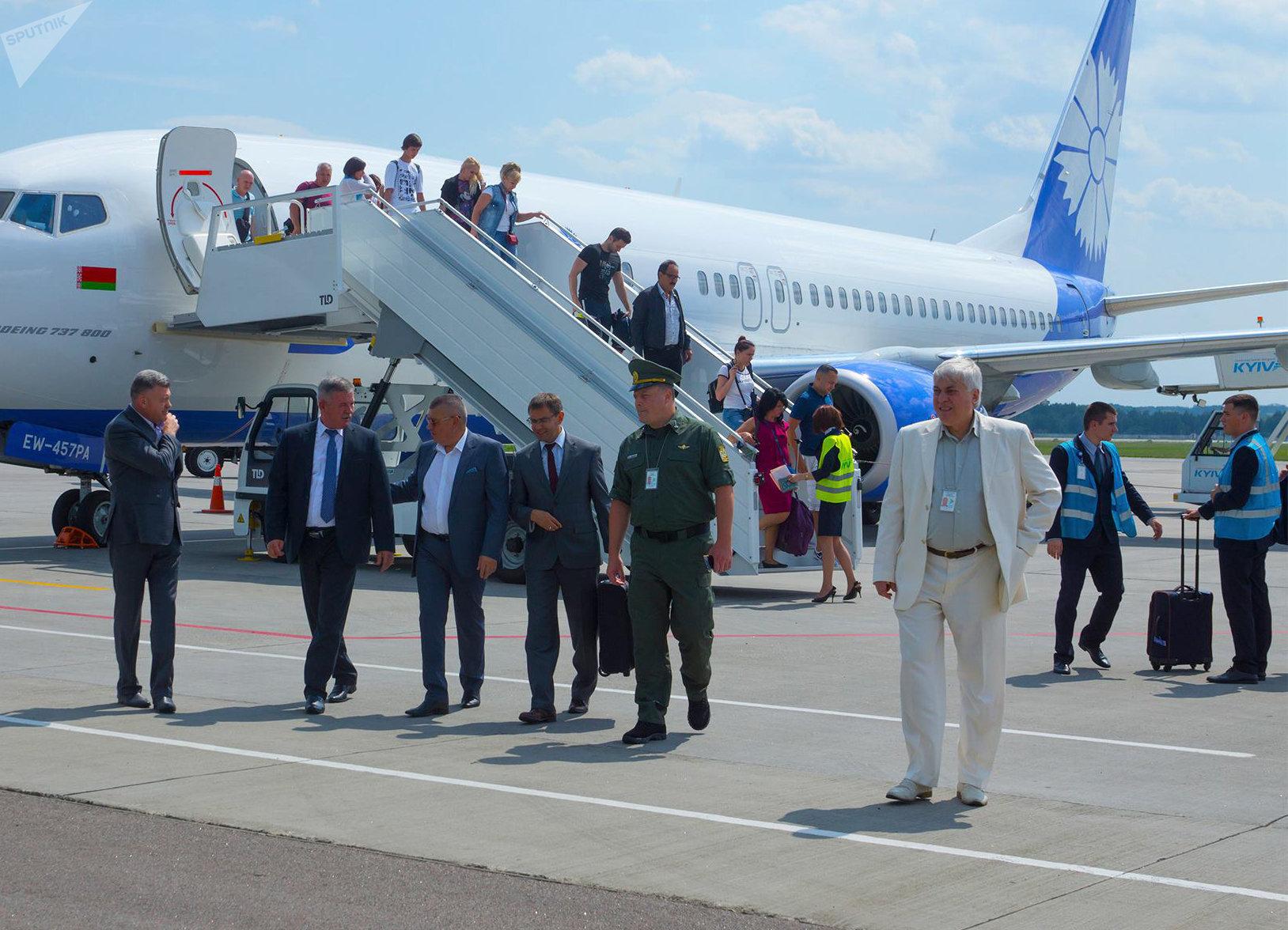 Президент Республики Беларусь Лукашенко прибыл встолицу страны Украина напереговоры