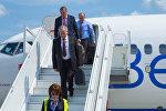 Прибытие белорусское делегации в Киев