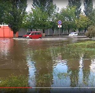 Видеофакт: как в четверг затопило Барановичи