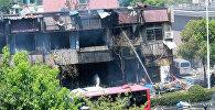 Последствия взрыва газа в ресторане в Китае