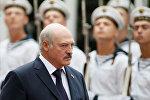 Александр Лукашенко по время официального визита в Киев