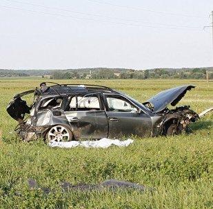 BMW, вылетевший в кювет в Берестовицком районе