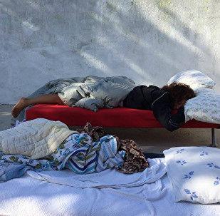 Спящие на улице в Бодруме