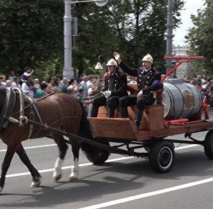 Свята да Дня пажарнай службы: парад, канцэрт і юныя ратавальнікі