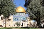 Мечеть Куббат-Ас-Сахра (Купол Скалы) на Храмовой горе в Иерусалиме