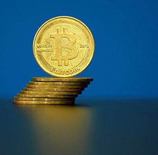 Изображение криптовалюты Биткоин, архивное фото