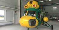 Вертолет в Минском аэроклубе ДОСААФ в Липках
