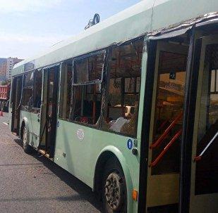 ДТП с участием троллейбуса в Минске