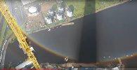 Строитель из Санкт-Петербурга запечатлел круглую радугу
