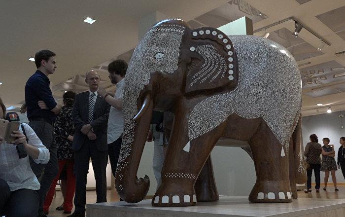 Індыя падарыла Нацыянальнаму мастацкаму музею двух сланоў