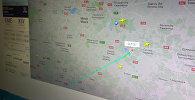 Карта с рейсом, которым летит вице-премьер РФ Рогозин