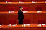 Председатель Китайской Народной Республики Си Цзиньпин на церемонии 90-летия создания Народно-освободительной армии Китая