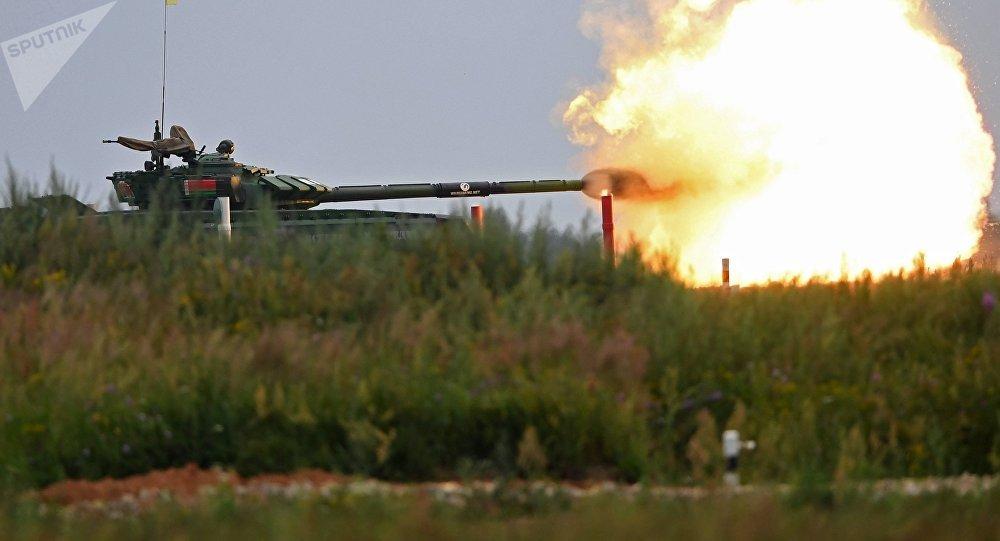 Российская Федерация выигрывает втанковом биатлоне наАрМИ