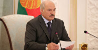 Президент Беларуси Александр Лукашенко на селекторном совещании 02.08.2017