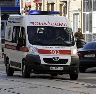 Скорая помощь на улице Киева, архивное фото