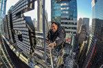Крыша небоскреба на Таймс-сквер в Нью-Йорке