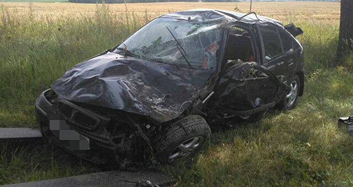 Авария вВитебском районе: шофёр уснул зарулём иулетел вкювет