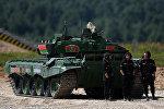 Экипаж Беларуси на Танковом биатлоне