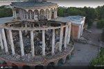 Сьемки с дрона: в Твери обрушился символ города – речной вокзал
