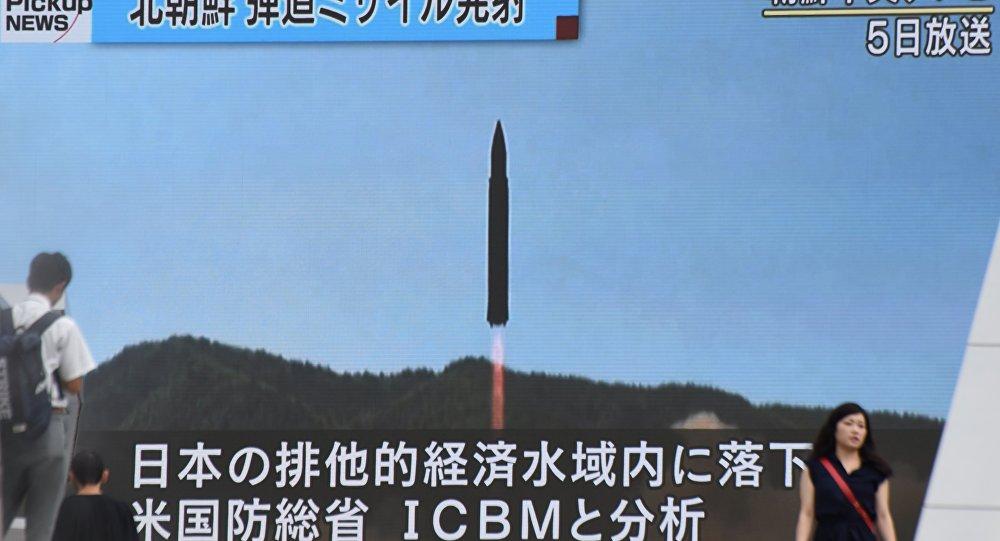 ВМинобороны Японии сообщили, что могут перехватить направляющиеся кГуаму ракеты КНДР