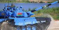 Белорусские танкисты в полуфинале танкового биатлона