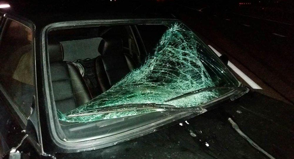 Грузовой автомобиль сопилками, следовавший вГродно, зажегся натрассе М6