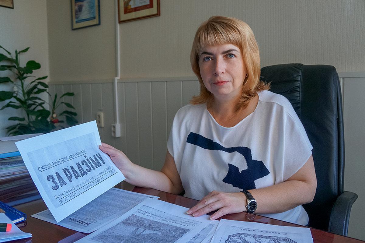 Старшыня абласной структуры Беларускага саюза журналістаў Святлана Шутава