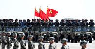 Китайские военные на параде